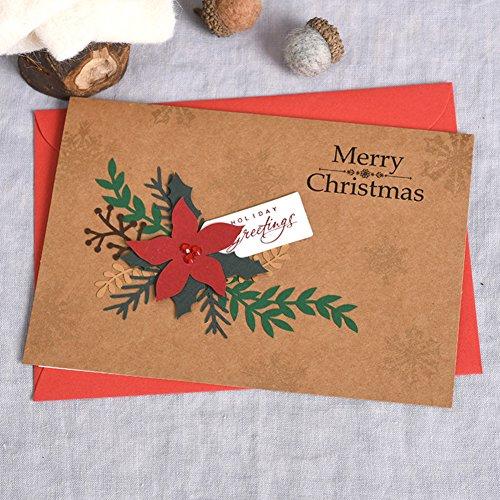 Día de la madre Tarjeta Papel kraft Día de la navidad Tarjeta Business Bodas Día de fiesta Tarjetas de regalo-A 5x7inch