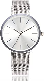Triskye Womens Analog Quartz Watches Business Casual Classic Luxury Stainless Steel Strap Band Round Wrist Watch Ladies Wristwatch Bracelet for Teen Girls