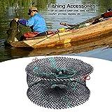 Red de Pesca, Conveniente Bolsa de Pesca plegada Bolsa de Cebo Nylon Hecho para Langosta camarón de camarón Accesorios de Pesca de Malla (Negro)