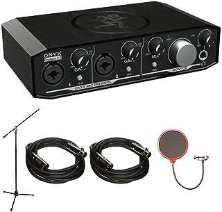 Mackie Onyx Producer 2-2 2x2 USB Audio Interface with MIDI (Onyx PRODUCER2-2) with Accessories Bundle Includes, 2X Monopri...
