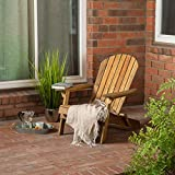Hobart Outdoor Rustic Acacia Wood Folding Adirondack Chair, Natural Stained