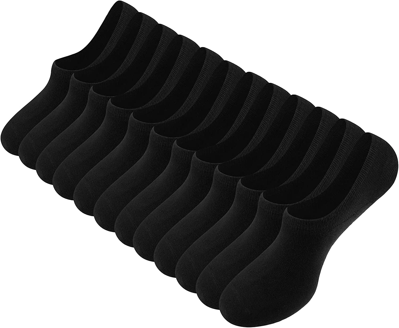 Cooraby 12 Pack No Show Socks Low Cut Socks Athletic Casual Socks Anti-slid Socks for Women and Men