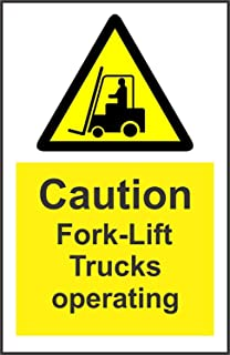 New Warning Caution Fork-Lift Trucks Operating Safety Sign 12x8.