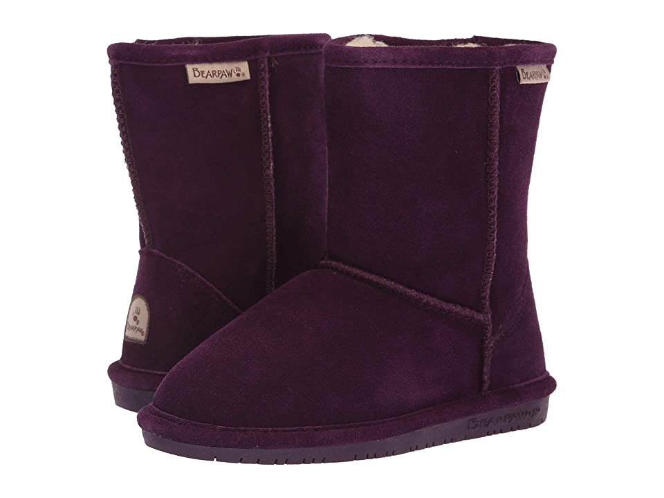 Bearpaw Kids Emma (Little Kid/Big Kid) (Plum) Girls Shoes