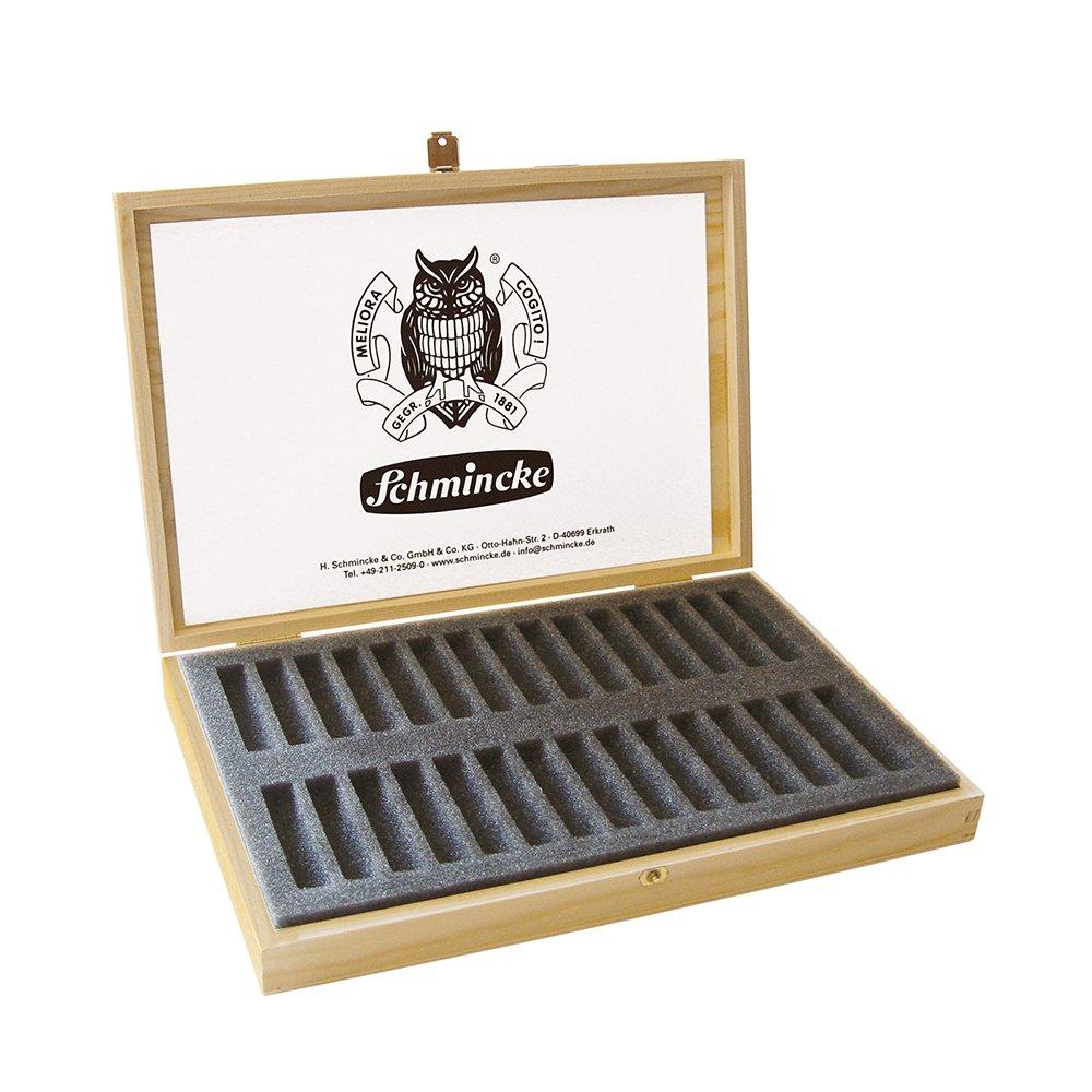 Schmincke - Caja de madera para pasteles vacía Holds 30 Pastels: Amazon.es: Oficina y papelería