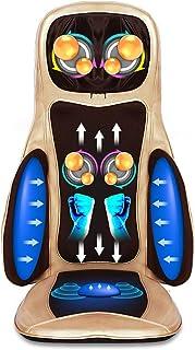PFMY.DG Masajeador de Espalda, masajeador de Espalda Completo de amasamiento 3D con Calor y compresa de Aire Ajustable, Almohadilla de Silla de Masaje para Hombros, Cuello y Espalda, Cintura, Caderas
