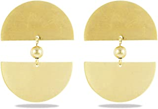 Karatcart Gold Metal White Pearl Earrings Set for Women