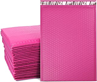 UCGOU 10.5x16 Inch Poly Bubble Mailer Pink Self Seal Padded Envelopes Waterproof and Tear-Proof Postal Bags Pack of 25