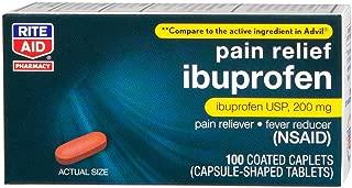 Rite Aid Pharmacy Ibuprofen, 200 mg, Coated Brown Caplets, 100 caplets
