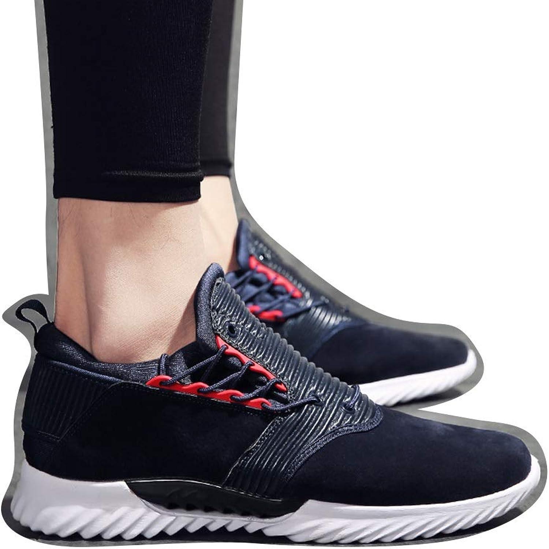 Men's Breathable Non-slip Wear Men's Casual shoes Men's Tide shoes Sports shoes Cricket shoes (color   bluee, Size   43)