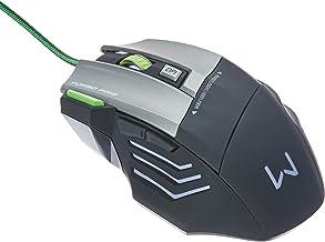 Mouse Multilaser Gamer Profissional Warrior 7 Botões 3200 Dpi Preto Usb - Mo207
