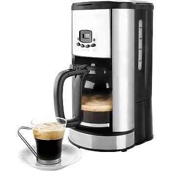 Lacor - 69279 - Cafetera De Goteo Programable 900w 1,80Litros 20tazas - Negro: Amazon.es: Hogar