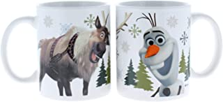 2 Pk. Zak Designs Disney Frozen Olaf & Sven Coffee Mugs (2 Mugs Total)