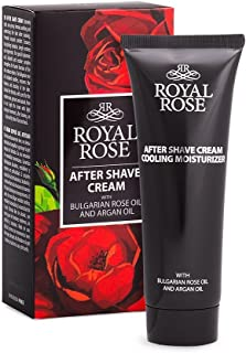 ROYAL ROSE Paraben Free AFTER SHAVE CREAM With Bulgarian Rose Oil and Argan Oil