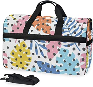 Gym Bag Colorful Palm Leaves Duffle Bag Large Sport Travel Bags for Men Women