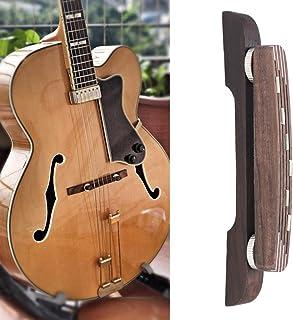 Dilwe Puente de Madera de Guitarra, Ajustable Rosewood Puente Reparación Parte Accesorio para 6 Cuerdas