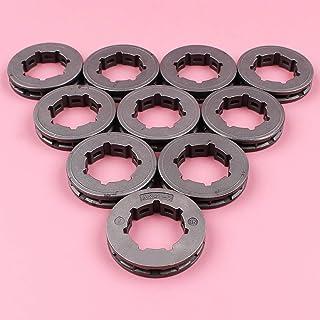 HAOHAO 10pcs / Lot .404 7 Dientes de 22 mm estándar Spline ID Piñón Rim for su Stihl 075 076 050 051 045 045AV Motosierra Repuesto