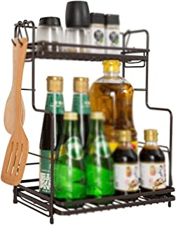 aipipl Accueil-Organisateur de Rangement étagères de Cuisine, Support de Rangement en Acier Inoxydable étagère à épices ét...