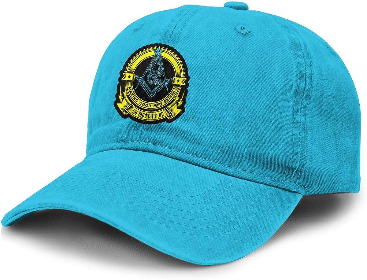 TZT Freemason Cowboy Hat Sports Baseball Cap Adjustable Hat Unisex