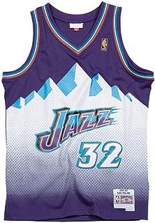 Forever Collectibles Platinum Swingman Throwback Jersey #32 Karl Malone Utah Jazz 1996-97 White Purple