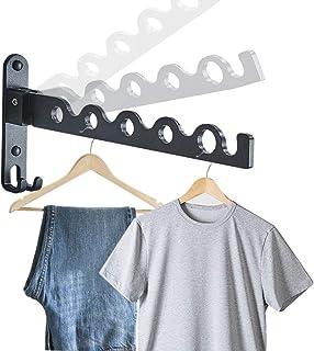 Gwolf Väggmonterad klädhängare ställ, hopfällbar väggmonterad klädhängare liten vägg kläder luftare klädstång vägg kläder ...