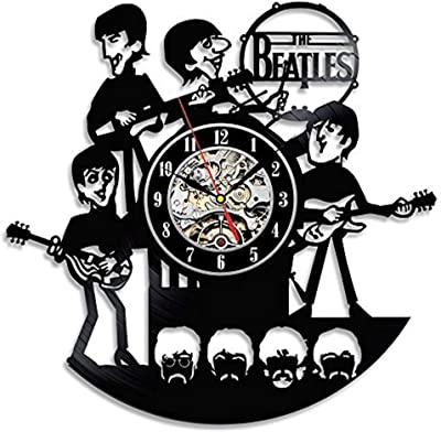 Gullei Reloj para colar en la pared, vinilo, diseño de The Beatles: Amazon.es: Hogar