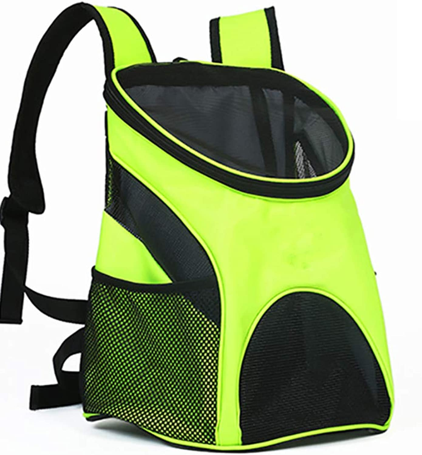 Pet Travel Backpack Foldable Carry Portable Breathable Bag (Fluorescent Yellow)