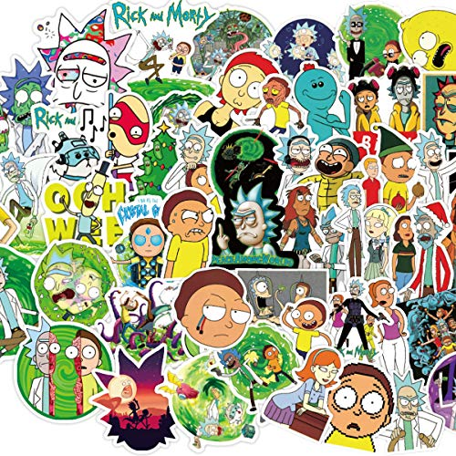 BATTER Laptop Sticker Waterproof Vinyl Stickers Car Sticker Motorcycle Bicycle Luggage Decal Graffiti Patches Skateboard Water Bottle Sticker (Rick and Morty 2)