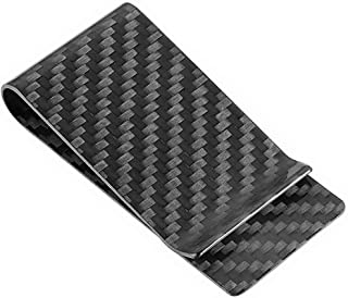 Carbon Fiber Money Clip Front Pocket Wallet Minimalist Wallet Slim Wallet Credit Business Card Holder (CB black)