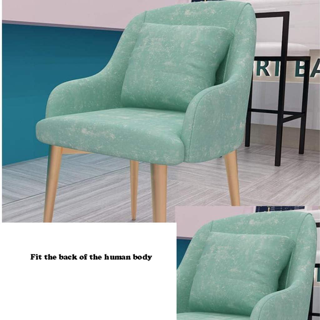 Simple Chaise Bureau étudiant et Chaise de Maquillage Tabouret Retour à la Maison à Manger Chaise d'ordinateur Unique (Color : Pink) Light Green