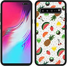 Case for Samsung Galaxy S10 5G case Fruits Slim Soft and Hard Tire Shockproof Protective Phone Cover Case Slim Hybrid Shockproof Protective Case Anti-Scratch Cushion Bumper with Reinforced Corners, An