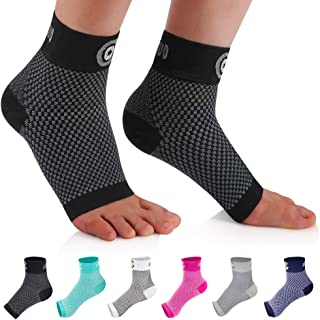 CAMBIVO 2 Pairs Plantar Fasciitis Socks, Ankle Compression Sleeve with Arch Support for Men and Women, Fit for Foot Pain, Heel Pain, Arch Pain, Ankle Pain, Swelling, Injury Recovery