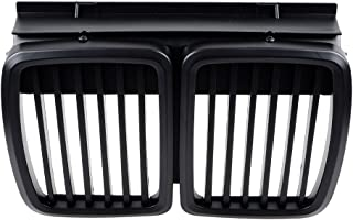 For 1983- 1991 BMW E30 Front Grille 3 Series Front Hood Kidney Grille Grill M3 Matte Black