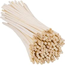 H&S 120pcs Reed Diffuser Sticks 4mm Thick Rattan Room Oil Fragrance Diffuser Sticks Replacement 23cm Long