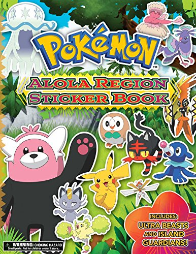 Pokémon Alola Region Sticker Book