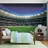 Fußball Stadion Sport- Forwall - Fototapete - Tapete - Fotomural - Mural Wandbild - (1915WM) - XL - 208cm x 146cm - VLIES (EasyInstall) - 2 Pieces