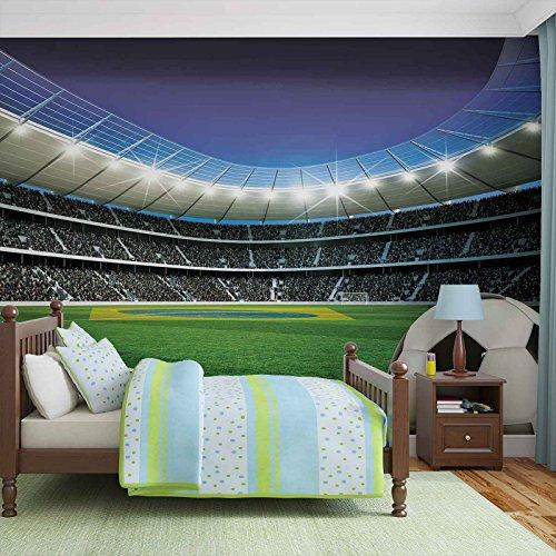 Fußball Stadion Sport- Forwall - Fototapete - Tapete - Fotomural - Mural Wandbild - (1915WM) - XXL - 368cm x 254cm - Papier (KEIN VLIES) - 4 Pieces