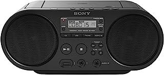 Sony ZS-PS50 - Boomboxon CD y Radio Am/FM de 4W (estéreo, reproducción Mediante USB y Entrada de Audio), Negro