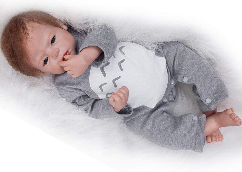 HAPA 22 Inches Soft Vinyl Silicone Reborn Baby Doll Realistic Real Looking Newborn Dolls Boy