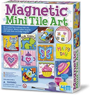 Best 4M 4563 Magnetic Mini Tile Art - DIY Paint Arts & Crafts Magnet Kit For Kids - Fridge, Locker, Party Favors, Craft Project Gifts for Boys & Girls Reviews