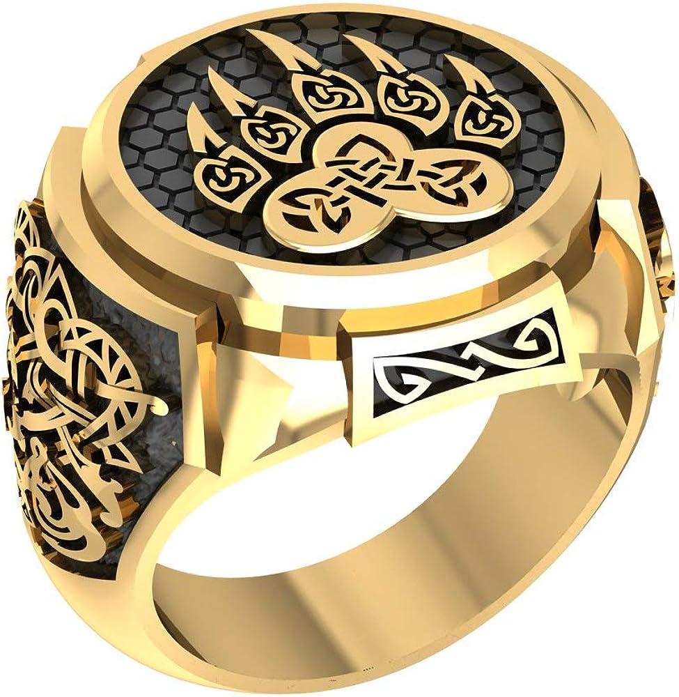 Siamhandmade2014 San Antonio Mall Bear Paw Claw Ring Pagan Cheap sale Knot Viking Celtic Sla