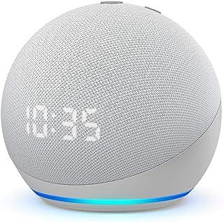 Nuevo Echo Dot (4.ª generación) | Altavoz inteligente con reloj y Alexa | Blanco