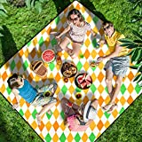 Homemaxs Picnic Blankets Extra Large 80' X80', 【2020 Newest】 Waterproof Foldable Picnic Mat with 3 Tier Waterproof...