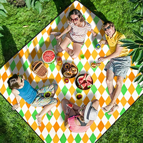 "Homemaxs Picnic Blankets Extra Large 80"" X80"", 【2020 Newest】 Waterproof Foldable Picnic Mat with 3 Tier Waterproof Sandproof Material, Portable Outdoor Picnic Blankets for Beach, Camping and Hiking"