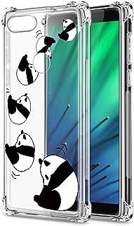 Suhctup Compatible con Nokia 7.2 Funda para Silicona Transparente con Dibujos Panda Diseño Patrón Cárcasa Ultra-Fina Suave TPU Choque Cojín de Esquina Parachoque Caso-Panda 7