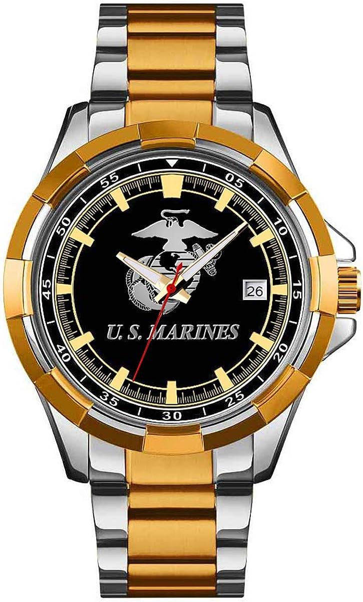 U.S. Marine Corps Stainless Steel Store Indefinitely Mens 30m Watch Water Resista -