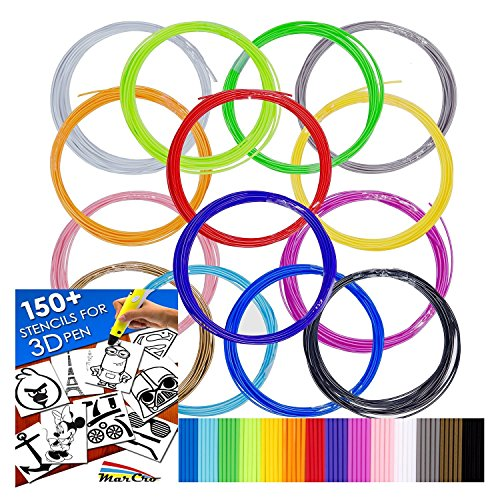 320ft Premium Quality Filaments for 3D Pen - 1.75 ABS - 16 colors of which...