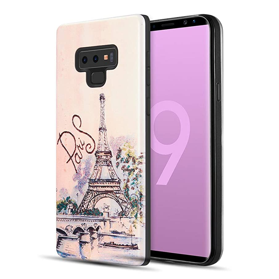 Galaxy Note 9 Protective Case, [ Storm Buy ] Butterfly Series 3D Embossed Sturdy Durable Rubber Cute Girls/Women Phone Cover Compatible with [ Samsung Galaxy Note 9 ] (Tower)