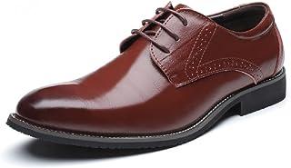 c4003596 Zapatos Oxford Hombre, Brogue Cuero Boda Negocios Calzado Vestir Cordones  Derby Negro Marron Azul Rojo