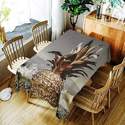 XXDD Mantel de Hoja de plátano y Cactus 3D Creativo patrón de Planta Verde cómoda Cubierta de Mantel Impermeable A8 135x135cm